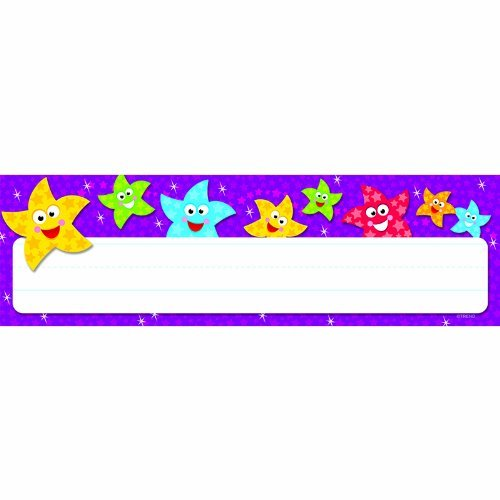 Dancing Stars Desk Toppers Name Plates by Trend Enterprises Inc