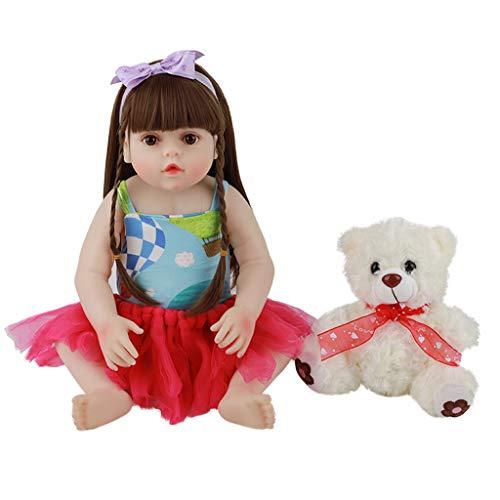 Bambole Reborn Realistiche Fatte A Mano Da 18 Pollici in Silicone Lavabile Da 18 Pollici per Bambine Rinate per Ragazze Regalo Di Natale Di Halloween per Ragazze