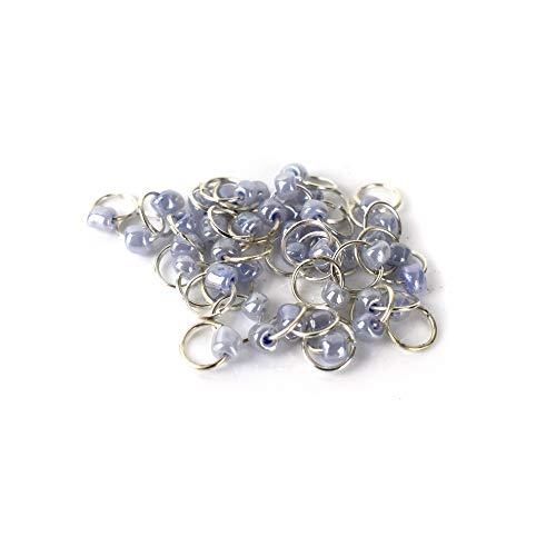 Nagelpiercings UV-Gel Nail Silber Ring Nailart Nagelschmuck - Piercing Lavendel 10 Stück