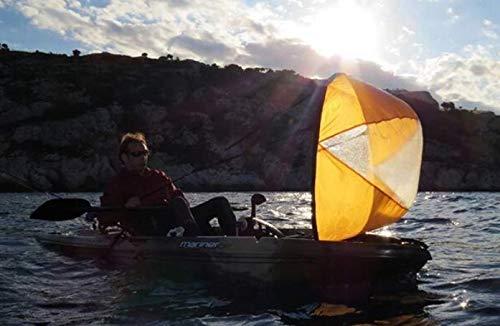 Kaitts Kajaksegel Vorwind Segel Sail Segelboot Kajak Zubehör Besegelung, Farbe:Orange
