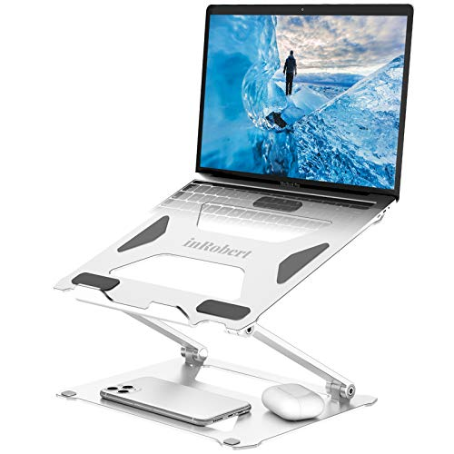Adjustable Laptop Stand, inRobert Ergonomic Portable Laptop Riser Mount Computer Stand, Foldable Notebook Holder with Heat-Vent Elevate Laptop Compatible with MacBook Air/Pro, Dell, HP up to 17.3''