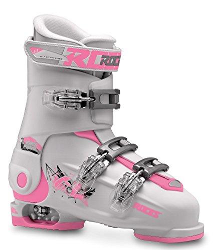 Roces Idea, Scarponi da Sci Unisex Bambini, Multicolore (White/Deep Pink), MP 22.5-25.5/36-40