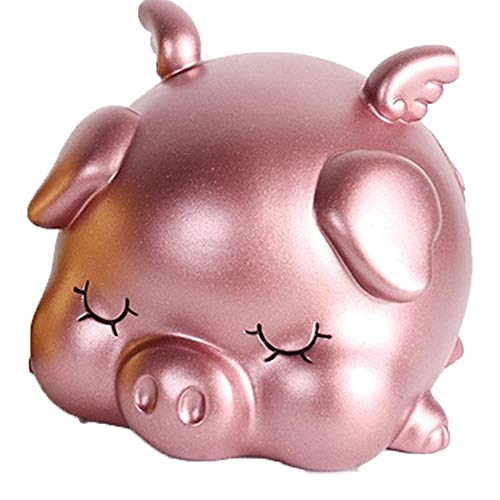 Kassa MYKK Geldkluis Cash Coin Safe Spaarpot Kinderen Spaarpot Creatieve Speelgoed Geschenken 13.5 * 12 * 10cm Roze- Klein
