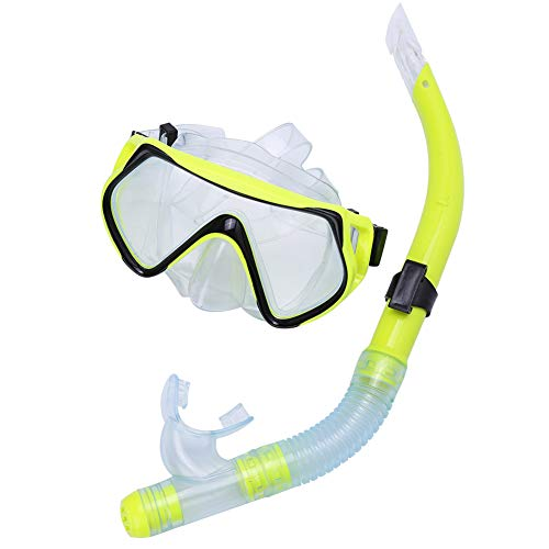 Cocosity Máscara de Buceo, Gafas de Buceo, portátil para bucear bajo el Agua(Yellow)