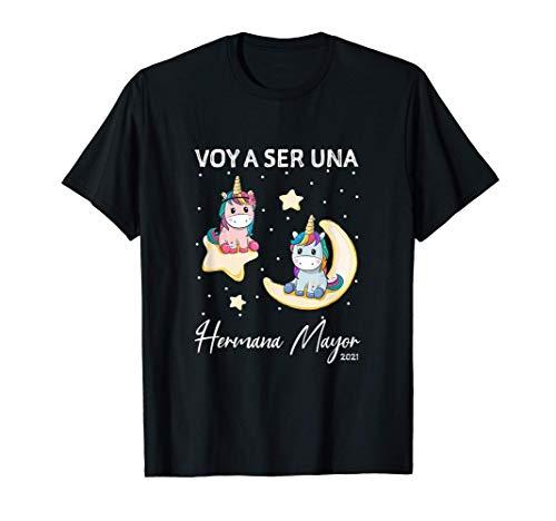Niños Voy a ser una Hermana Mayor lindo regalo de unicornio Camiseta