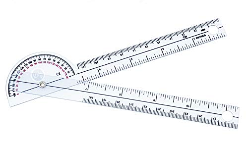 "Scrubsmart Economy, Lightweight Plastic 6-3/4"" Pocket Goniometer 180 Degrees EGM-425"