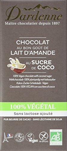 Dardenne Tablette Chocolat 100% Végétal au Sucre de Coco Bio 100 g