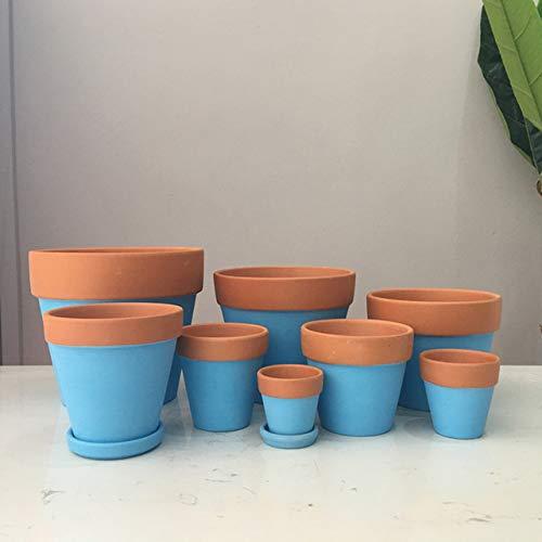Chengcheng Les Plantes Carnivores coloré Mini-Pot de Fleur de Pot de Fleur en Plastique Home Décor Bureau,Bleu,diameter8
