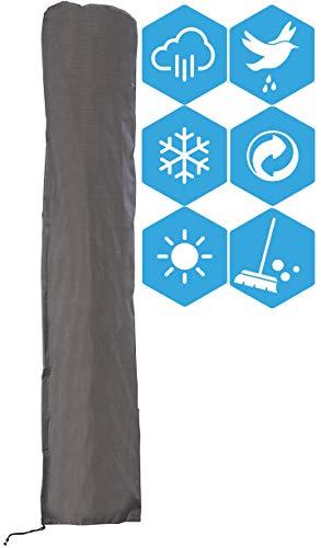 ATLANTIS Outdoor Cubierta Funda Protectora para Parasol Excéntrico | Gris | TÜV Rheinland Certificada | Fundas para Muebles | Impermeable | Resistente Agua | Protección