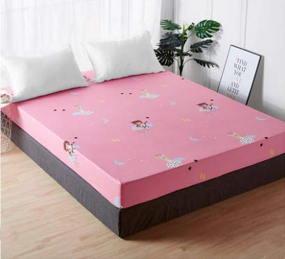 Step By Step Bear Pattern Sheet Piece Cotton Cotton Bed Cover Mattress Simmons Protective Cover Bed Cover 135 * 200Cm