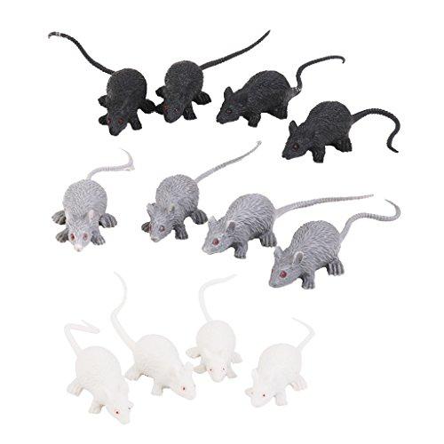 Kunststoff Künstliche Maus Tiere Modell Spielzeug 12 Stk.