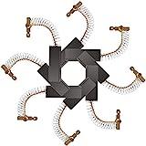 GZcaiyun - 8 spazzole di carbone per motore, per lavatrici, 12,5 × 5 × 36 mm, universale, per lavatrici Power Tools, riparazione, pezzo di ricambio