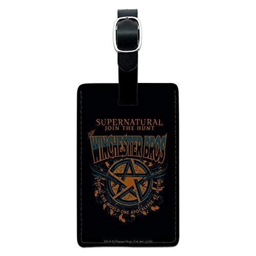 Supernatural The Winchester Bros Gepäck-Anhänger aus Leder, rechteckig