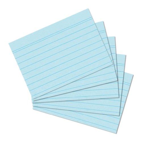 Herlitz 10836203 Karteikarte A6 liniert, 100 Stück, blau