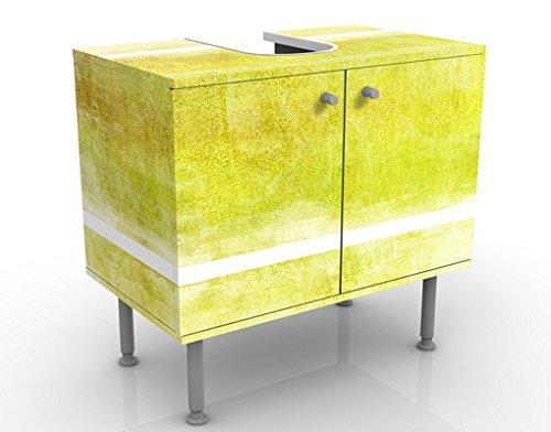 Meuble sous Vasque Design Colour Harmony Yellow 60x55x35cm, Petit, 60 cm de Large, réglable, Table de lavabo, Armoire de lavabo, lavabo, Meuble Bas, Baignoire, Salle de Bains, Armoire de Salle Bains
