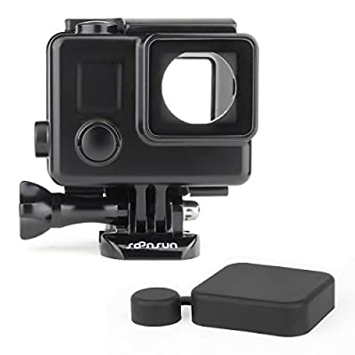 SOONSUN Side Open Skeleton Housing Case for GoPro Hero 4 3+ 3 Black Silver Cameras from SOONSUN