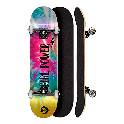 Skate Montado Profissional Cisco Feminino Tie Dye 8.0 - Abec 5