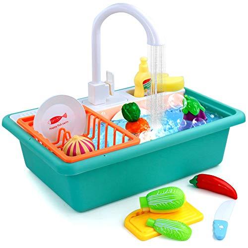 yoptote Küchenzubehör Kinder Küchenspielzeug Kinderküche Geschirr Kinderwaschbecken Pädagogisches Rollenspiele Spielküche Zubehör Geschenke für Kinder 2 3 4 5 Jahre