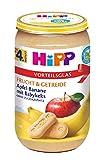 Hipp Frucht & Getreide, Apfel-Banane mit Babykeks, 1er Pack (1 x 250g) - Bio -