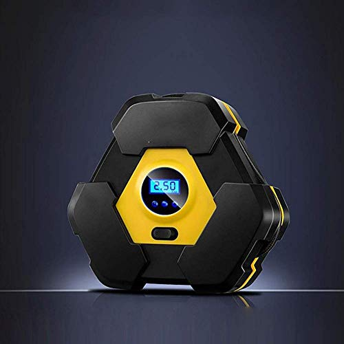 Inflador de neumáticos Duradero Inflador Digital de neumáticos de 12 V CC Encendedor de Cigarrillos Compresor de Aire portátil Bomba de 100 PSI Luz multifunción, fácil de Usar
