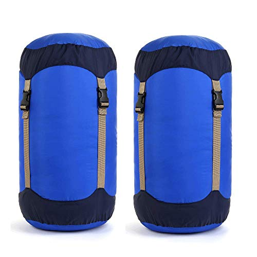 Borogo Compression Stuff Sack, 45L Lightweight Sleeping Bag Compression Sack Great for Sleeping Bags Clothes, Backpacking, Hiking and Camping (2-Pack)