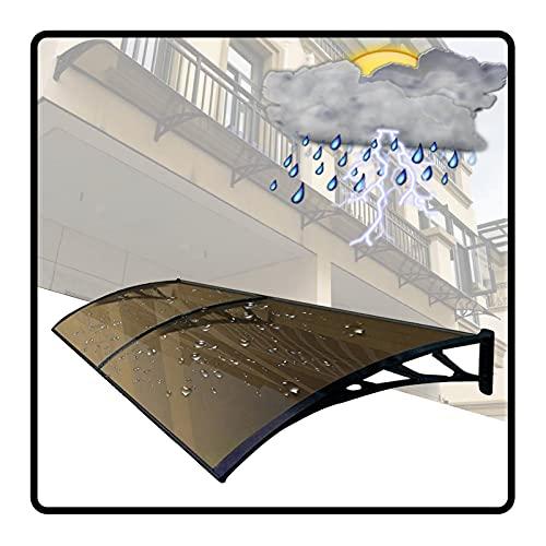 QIANDA Policarbonato Marquesina De Puertas, Protección UV Toldo Lluvia Nieve Abrigo Translúcido Marrón Hoja Hueca por Tejado Porche Residencial, Tamaño Múltiple (Color : Brown, Size : 60x240cm)
