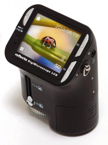 Reflecta DigiMicroscope LCD Mikroskop (mit integrierter Digitalkamera für Foto und Video, max. 35x Vergrößerung)