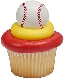 3D Baseball Cupcake Rings - 24 pc