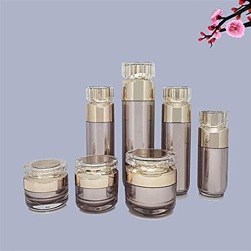YSJJNDH Envase de Botella Crema de acrílico Far 50G Loción sin Aire Bombilla Botella de emulsión Bomba de emulsión 100 ml Contenedor de cosméticos Ejemplo vacío Vial Essence Embalaje