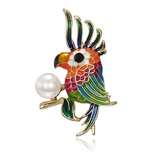XZFCBH Broches de pájaro Coloridos de Esmalte para Accesorios de Camisa Mujeres...