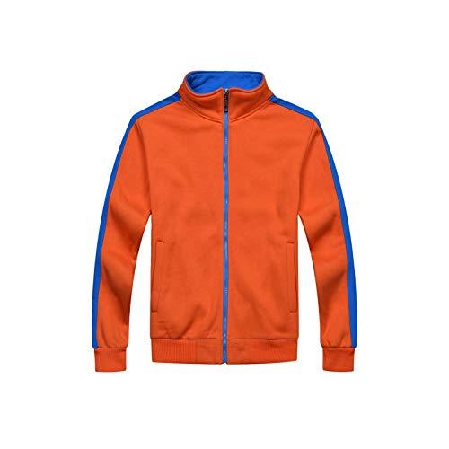 LBWT Uniforme Casual De Béisbol, Sudaderas De Cremallera De Moda, Collar De Pie Más Pantalones De Terciopelo, Otoño/Invierno (Color : Orange, Size : XXXL)