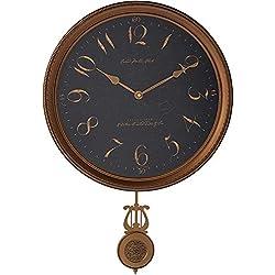 Howard Miller Paris Night Wall Clock 620-449 – Vintage & Round with Quartz Movement