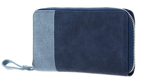 Zwei Eva EV2 Reißverschluss Geldbörse Portemonnaie Geldbeutel Brieftasche,Canvas-Blue (Blau)
