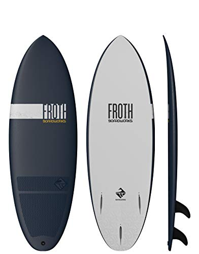 Boardworks Froth! Soft Top Surfboard, Denim/Gold, 5'