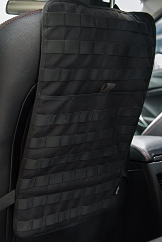 "OneTigris Car Seat Back Organizer, Tactical MOLLE Vehicle Panel Car Seat Cover Protector Universal Fit (Black - 14"" 22"