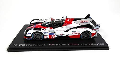 - Compatible con Toyota TS050 Hybrid # 8 - Toyota GAZOO Racing - 8o Le Mans 2017 - Buemi-Davidson-Nakajima - Spark 1/43 para Hachette Japon (01)