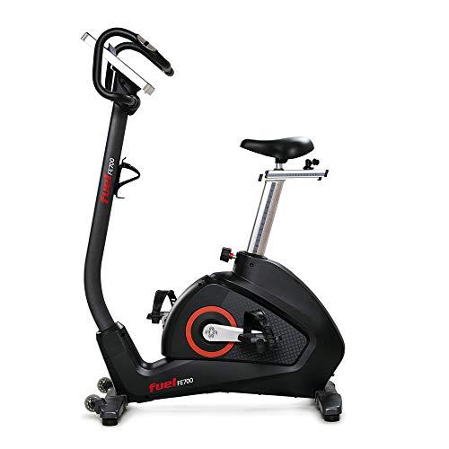 FUEL Fitness FE700 Ergometer Fahrrad für Zuhause, Induktionsbremse, Watt-Steuerung, leiser Riemenantrieb, 9 Schwungrad, Nutzergewicht bis 150kg, 12 Programme, LCD-Display, Kinomap-App, inkl. Brustgurt