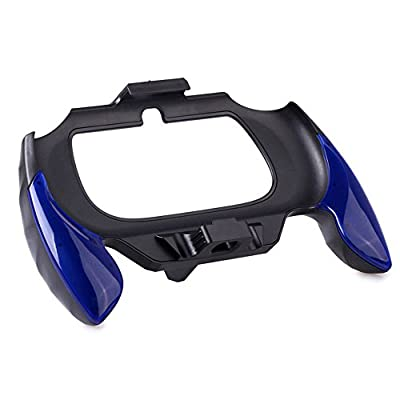 XFUNY Plastic Hand Grip Handle Support Holder Cover Case Bracket Replacement for PS Vita 2000-Blue