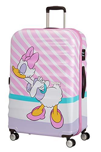 American Tourister Wavebreaker Disney - Spinner L Suitcase, Multicolour (Daisy Pink Kiss), 77 cm, 96 Litre