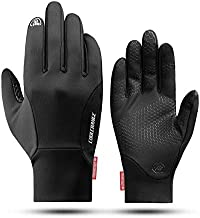 Cool Change Winter Bike Gloves Windproof Cycling Gloves Touch Screen Cold Weather Bicycle Gloves Anti-Slip for Men Women Running Hiking Walking Driving