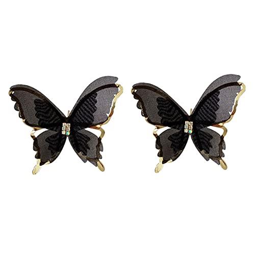 Pendientes de mariposa para mujer, regalo de accesorios de joyería causal, pendientes de tuerca, aretes perforados, joyería para mujeres, regalos para mujeres y niñas
