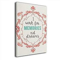 Skydoor J パネル ポスターフレーム Quote I Work For Memories インテリア アートフレーム 額 モダン 壁掛けポスタ アート 壁アート 壁掛け絵画 装飾画 かべ飾り 30×20