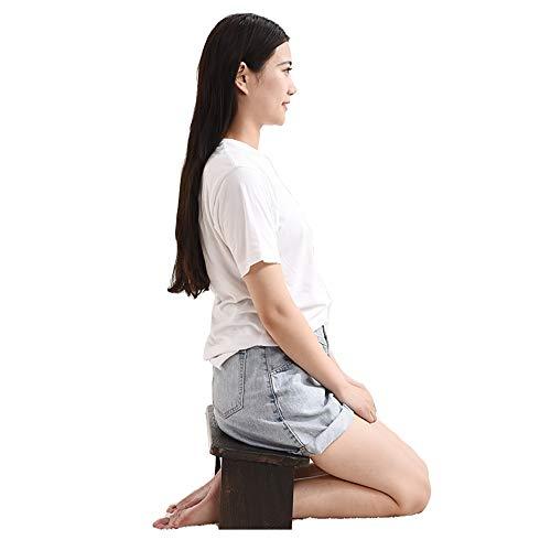 LLC-POWER Meditationspall, Seiza knäpall, bärbar meditationsbänk, ergonomisk robust lämplig munk...