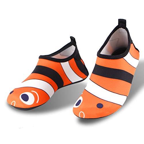 MOye Water schoenen Kinderen Strand Surf Duiken Zwemmen Op blote voeten schoenen Sneldrogend leer Duurzame en lichtgewicht rubberen zool