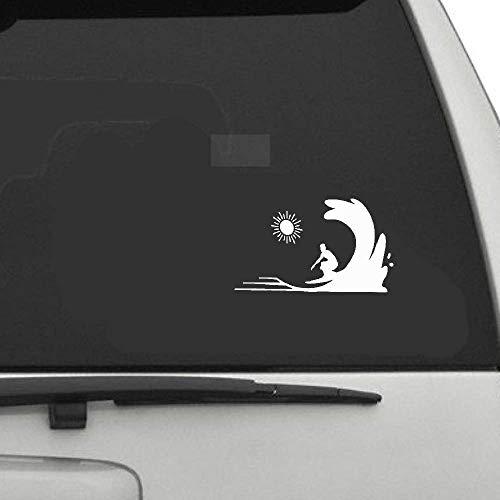 15.3x9Cm Interessantes Surfen Auto Aufkleber Silhouette Zubeh?r Extreme Bewegung für Auto Laptop Fenster Aufkleber