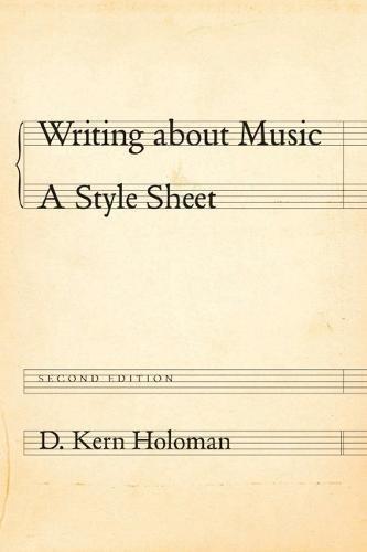 Writing about Music: A Style Sheet