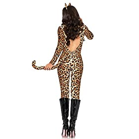 Leg Avenue Women's 3 Piece Cougar, Leopard