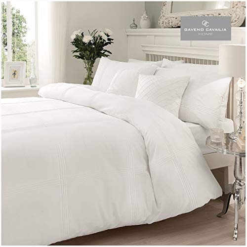 Gaveno Cavailia Gaveno Cavalia Signature Collection Hamlet Set With Duvet Cover and Pillow Case White King, Polyester-Cotton