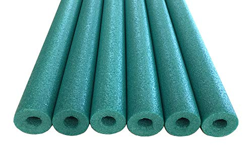Oodles of Noodles Foam Pool Swim Noodles with Connector, 6-Pack, 52-Inch, Green, Bulk Pack
