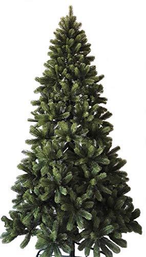 Best Artificial Slim premio 7ft / 210 centimetri Real Feel incernierato l'albero di Natale con 1100 PIENO punte PE per la coperta di Natale con 5 anni di garanzia